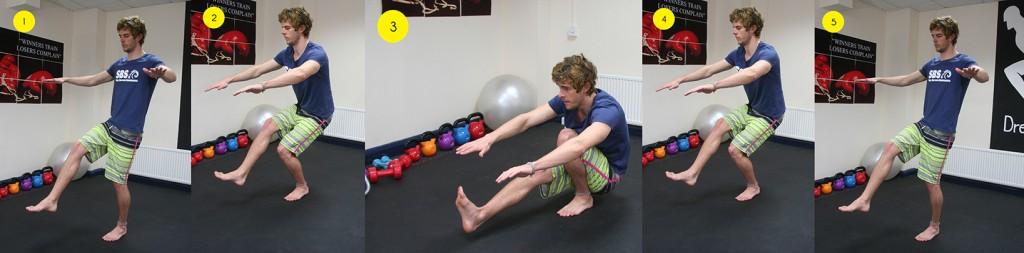 Surfing Leg Exercise 102