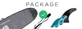Bag, Leash, Fins
